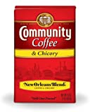 Community Coffee Ground Coffee, New Orleans Blend with Chicory, 16-Ounce Bags (Pack of 10)