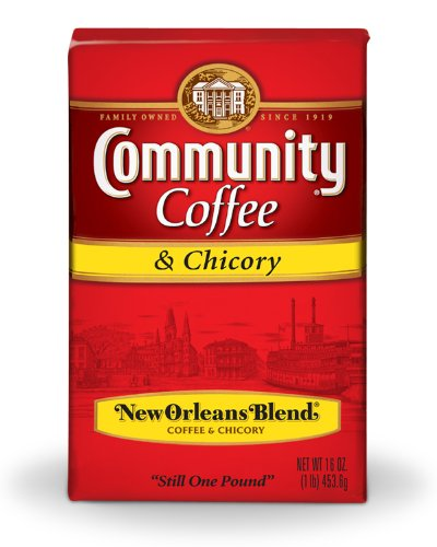 Community Coffee Ground Coffee, New Orleans Blend with Chicory, 16-Ounce Bags (Pack of 10) by Community Coffee