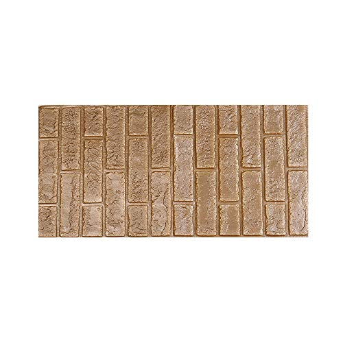 3D Stone Brick Wallpaper, Buybuybuy 3D Brick Stone Rustic Effect Self-adhesive Wall Sticker Home Decor Decorating Bedroom Living Room Kitchen 30X60cm (Gray N)