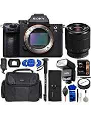 $1948 » Sony a7 III Full-Frame Mirrorless Camera Bundle with 28-70mm Lens, 64GB Memory Card, GODOX Camera Flash, Water Resistant Gadget Bag, Accessory Rollup, Monopod, Eyecup + More | Sony Alpha 7 III