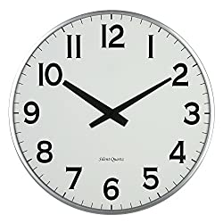 Lulu Decor, 18 Slim Wall Clock, round modern sleek design only 0.75 inches thick, Silent Movement (Slim)