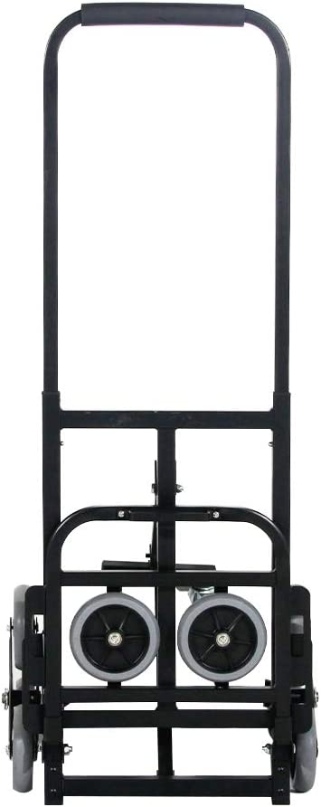 sogesfurniture Enhanced Stair Climber Cart 330lbs Heavy Duty Stair Climbing Cart Folding Hand Truck Adjustable Handle Folding Hand Truck with Two Backup and Assistant Wheels for Stair Climbing
