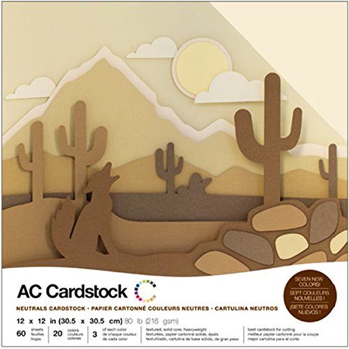 American Crafts Cardstock, 12 by 12