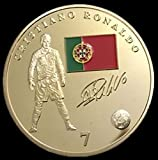 Cristiano Ronaldo 24K Gold Plated Medal FIFA Soccer - Coin Real Madrid - Shipped from USA