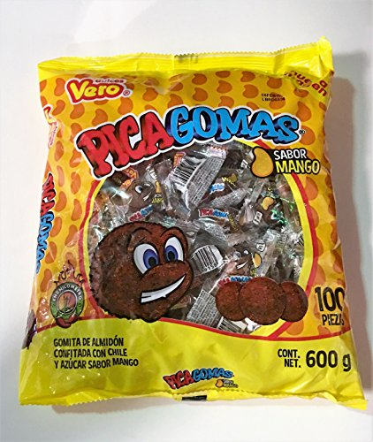 Vero Pica Gomas Chili Flavor Gummy Mexican Candy,100 Pieces,1 LB,5.15 OZ