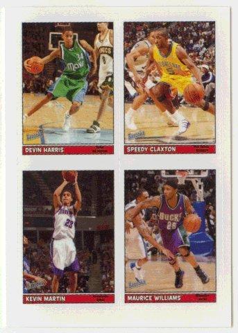Devin Harris / Speedy Claxton / Kevin Martin / Maurice Williams (Basketball Card) 2005-06 Topps Bazooka # 45 Stickers