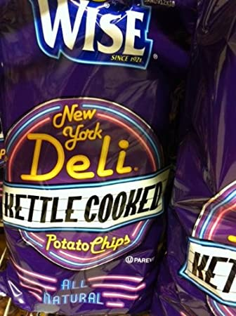 Amazon com: Wise Ny Deli Kettle Chips 9 00 Oz 6 Pack