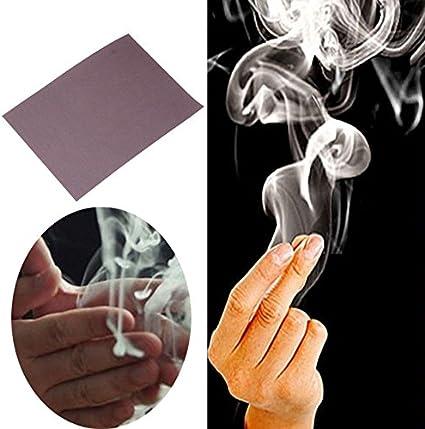 1 Sheets Amazing Magic Close-Up Change Gimmick Finger/'s Smoke Magician Props