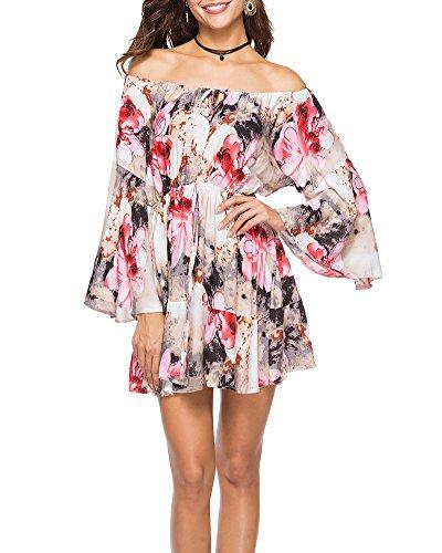 Kleid Damen Elegant Boho Abendkleid Sommerkleid Strandkleid ...