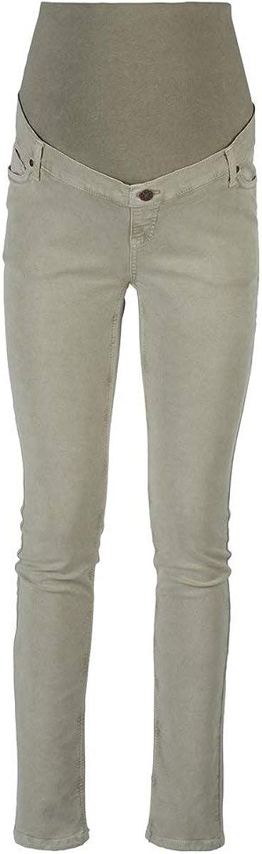 Light Blue Denim 2HEARTS Umstands-Jeans Skinny Love is in The Air Schwangerschaftshose aus elastischem Denim mit /Überbauchbund aus Jersey