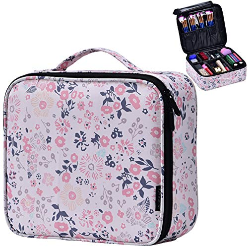 Joligrace Makeup Travel Bag Organizer for Women Cute Cosmetic Storage Train Case Portable Big Large Capacity with…