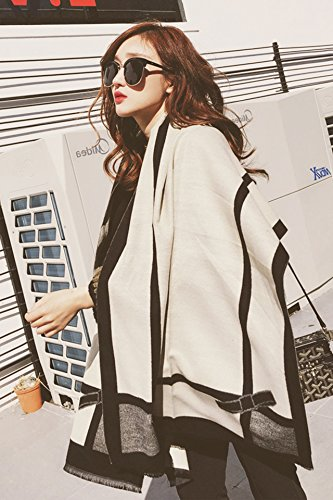 Generic Every day special autumn and winter scarves women girls lady Korean bow dual-sided warm cashmere shawl large thick section by Generic (Image #4)
