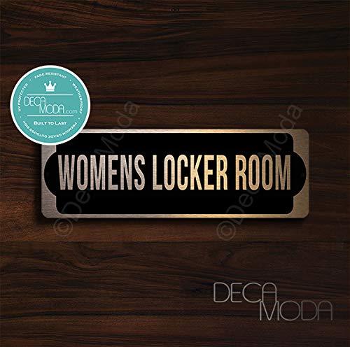 Deca Moda Womens Locker Room Door Sign, Signs for Business, Door Signs, Womens Locker Room Door Signs, Womens Locker Room Door, Copper Finish, 9 x 3 inches