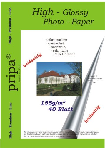hochaufl/ösend Fuer Inkjet Drucker Tintenstrahldrucker glaenzend pripa 50 Blatt Fotopapier DIN A4 180g//qm Glossy