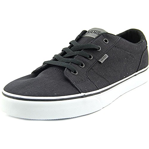Vans Mens Bishop Textile Ankle-High Canvas Fashion Sneaker Textile Black/Glacier Grey