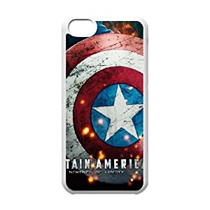 C-EUR Print Captain America 2 Pattern Hard Case for iPhone 5C