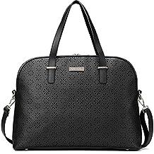 15.6 inch Laptop Bag for Women, Real Leather Satchel Handbag Tote Purse, Crossbody Shoulder Bag