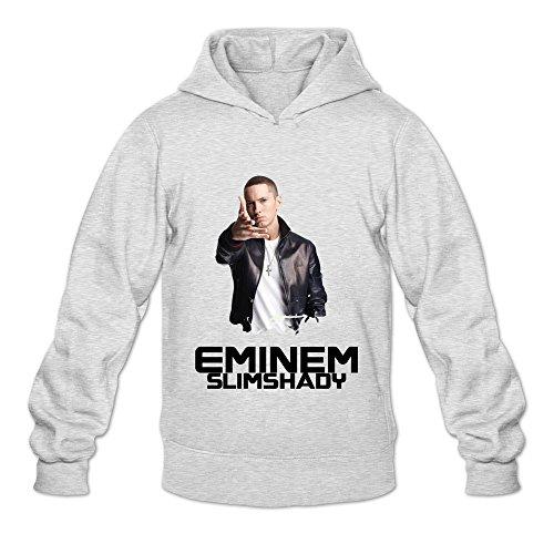 Seico Men's Slim Shady Eminem American Singer Sweatshirt Hoodie Ash Size XL