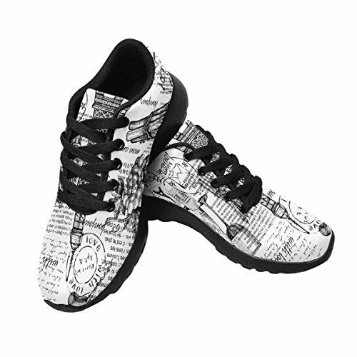 Interestprint Femmes Jogging Running Sneaker Léger Aller Facile À Pied Confort Décontracté Chaussures De Course Tour Eiffel, Paris, France Multi 1