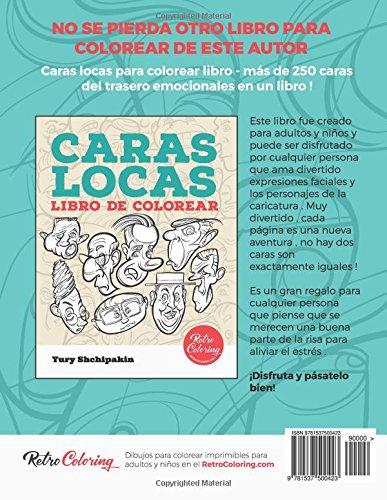 Caras cubistas libro de colorear (Spanish Edition): Yury Shchipakin ...
