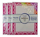 Bulk Buy: Geographics Assorted Auroral Medallion Printable Cardstock Certificates, (40)/Pkg., Pack of (3)