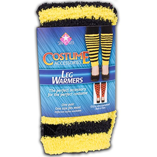 Loftus International Star Power Women Bumblebee Costume 2Pc Leg Warmers, Yellow Black, One-Size (14