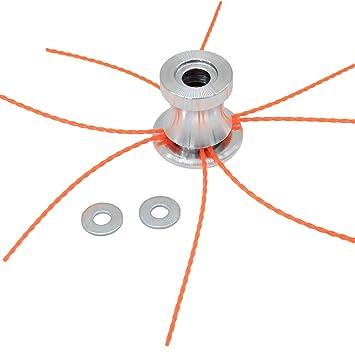 SWNKDG Cabeza de Hilo de Aluminio Cabeza cortadora de césped ...