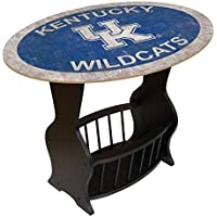Fan Creations C0818-Kentucky University of Kentucky Distressed Logo End Table with Team Color