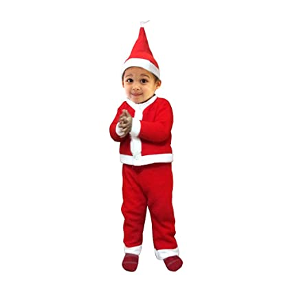 c93b29d2a891 Image Unavailable. Image not available for. Colour: Kavya Creation Santa  Claus Christmas Dress for Boys ...