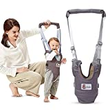Kidsidol Baby Walker Harness Stand up Walking Learning Assistant Adjustable Toddler Kids Walking Safety Belt Dual Use Suitable for 8-24 Months Infant Baby (Gray)