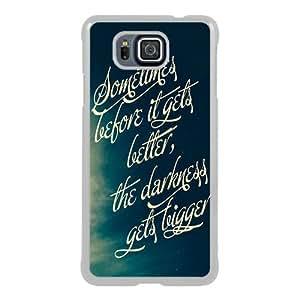 Popular Sale Samsung Galaxy Alpha Case,FALL OUT BOY lyrics White Customized Picture Design Samsung Galaxy Alpha Phone Case