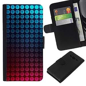 Stuss Case / Funda Carcasa PU de Cuero - Dot vibrantes del trullo Burbujas rosadas - Samsung Galaxy A3
