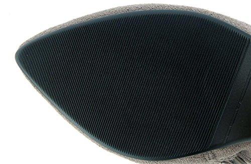 Party NVXIE Cheville Fall Suede Femmes Bottes Stiletto BLACK Talon EUR40UK7 Noir Travail Hiver Martin Pointu rC1Pqrw5