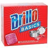 Brillo Basics Steel Wool Scrub Pads, 8-ct. Box