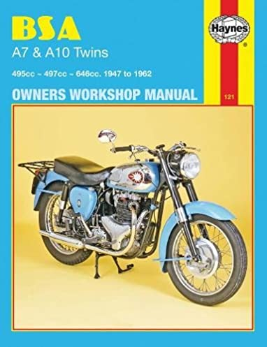 bsa a7 and a10 twins 1947 to 1962 owners workshop manual haynes rh amazon com bsa a10 service manual BSA A10 Plunger