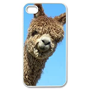 Alpaca Unique Design Cover Case with Hard Shell Protection for Iphone 4,4S Case lxa#920469