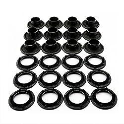 "C.S. Osborne 12 Sets Dull Black Grommets & Spur Washers #B2-5 (5/8"" Hole)"