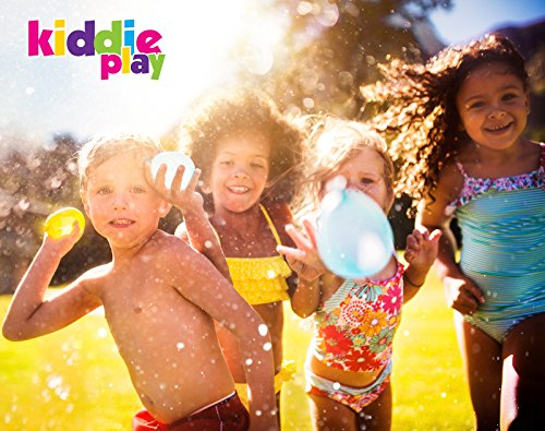 Kiddie Play Water Balloons for Kids with Filler Pump (250 Balloons) by Kiddie Play (Image #1)