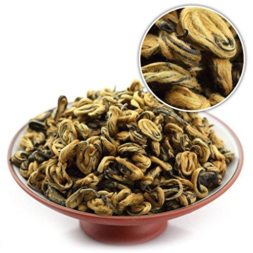GOARTEA 250g (8.8 Oz) Nonpareil Supreme Organic Yunnan FengQing Golden Bud Snail Dian Hong Chinese Black Tea