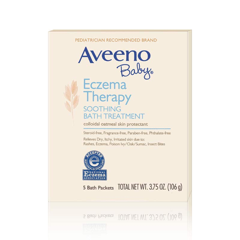 Aveeno Baby Eczema Therapy Soothing Bath Treatment with Soothing Natural  Colloidal Oatmeal, 5 ct