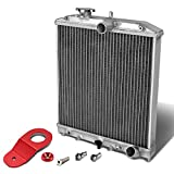 For Honda Civic EK AT (Auto Transmission) 2-Row Dual Core Aluminum Radiator w/Stay Mount Bracket (Red)