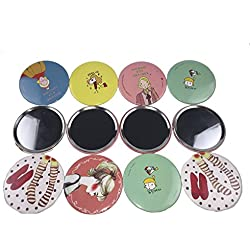 12pcs OPCC lovely makeup mirror Compact Cosmetic Makeup Round Pocket Purse Hand Mirror,great gift