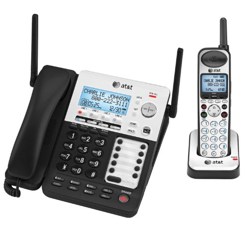 - AT&T SB67138 SB67138 DECT 6.0 Phone/Answering System, 4 Line, 1 Corded/1 Cordless Handset