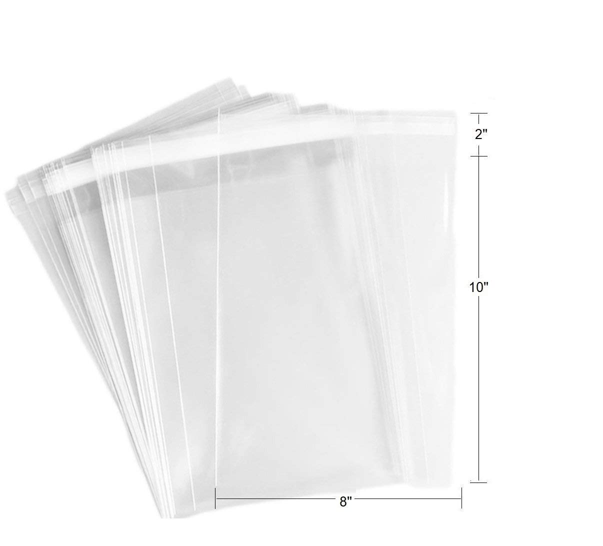 3 x 4 Candle FlanicaUSA 100 pcs Clear Flat Resealable Cello// Cellophane Bags Good for Bakery Soap Cookie,jewelry items bags.