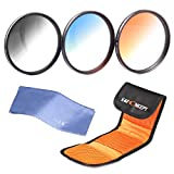 77mm Filter, K&F Concept 77mm Slim Lens Filter Kit graduated neutral density filter graduated color filter set for Digital Camera + Filter Pouch