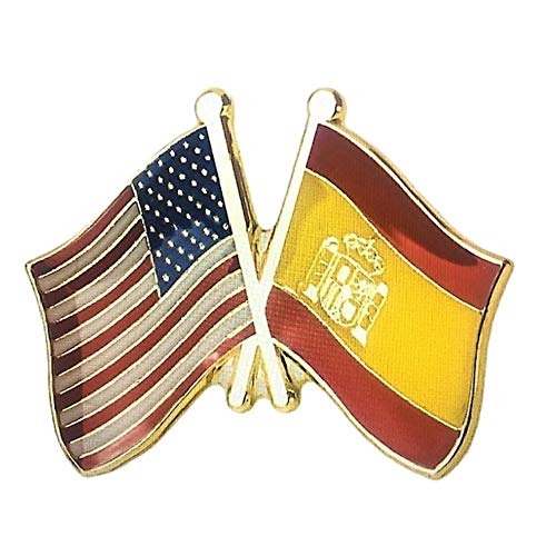 Backwoods Barnaby USA-Spain Friendship Pin/American Spanish Crossed Flags
