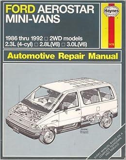 Buy Ford Aerostar Mini Vans 1986 92 Automotive Repair Manual