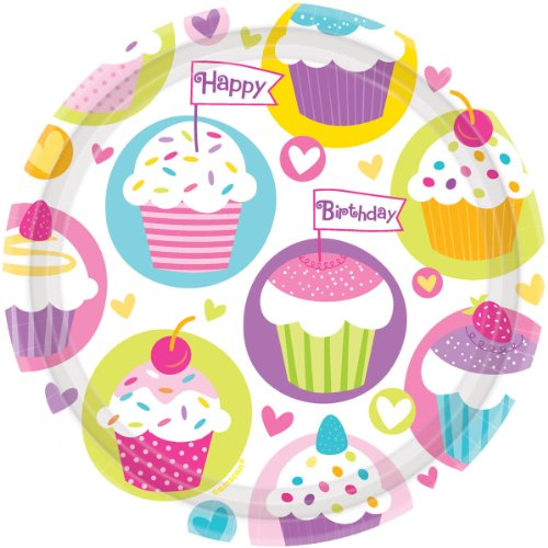 Cupcake Party Dinner Plates,