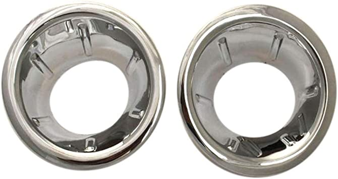 Color : Silver LIUWEI Front Fog Light Cover Abs Chrome for Nissan Navara//Frontier D40 07-13