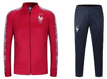 dbad618b039db TopFans Sweat Homme Champion du Monde 2018 Survêtement Football L équipe de  France Ensemble Sport
